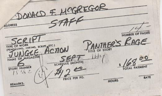 Panther's Rage Pay Voucher
