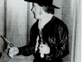 FAMILY - ME AS HOPALONG CASSIDY MID 70s - GUNS DRAWN