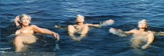 Connie Stevens swimming naked